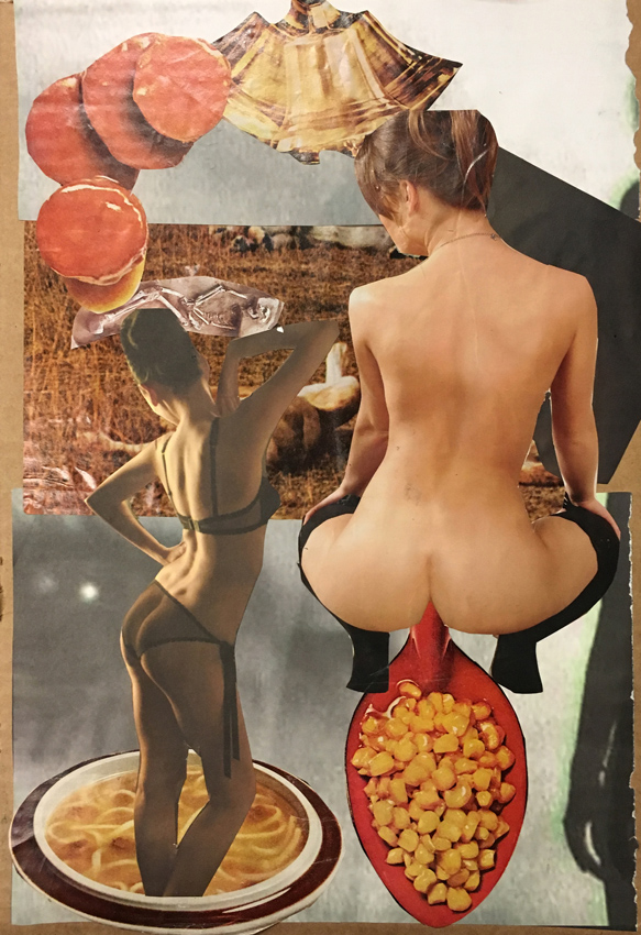 EVA MARIE, A Hole-Some Meal Plan, Collage auf Karton, 44 x 30 cm, 2017, CHF 580.-